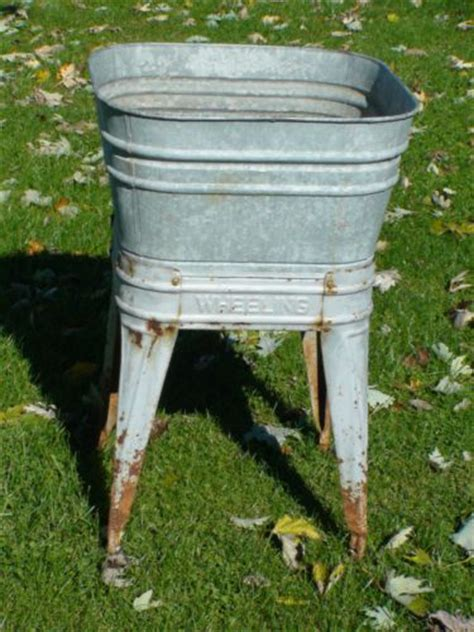 galvanized laundry sink with stand wheeling vintage single galvanized wash tub on stand good