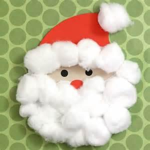 Cotton ball santa silhouette kids craft analisa murenin for