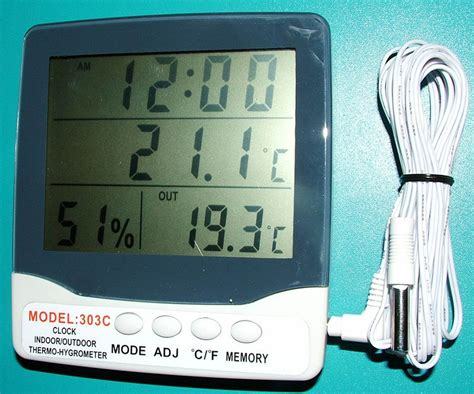 Digital Thermometer Model 303c Thermo Hygrometer 3 Parameter china digital thermo hygrometer china digital hygrometer