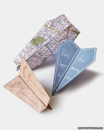 paper airplane cards martha stewart