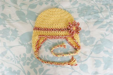 baby hats free patterns alli crafts free pattern baby earflap hat 6 months