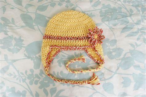 free pattern hat alli crafts free pattern baby earflap hat 6 months
