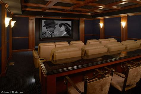 residential bar and theatre contemporary home theater