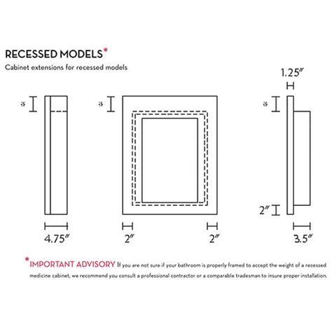 standard recessed medicine cabinet size standard recessed medicine cabinet size home