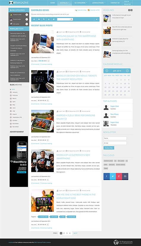 new joomla themes bowthemes releases new joomla template supporting easyblog