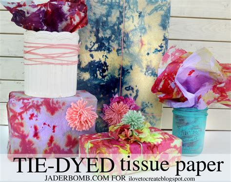 How To Make Tie Dye Paper - tie dyed tissue paper tutorial jaderbomb
