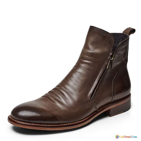 billige stehlen herren stiefeletten schwarz hohe stiefel retro kurze