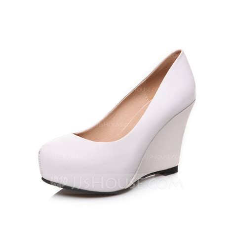 s real leather wedge heel pumps closed toe wedges