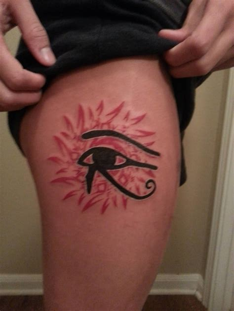 horus eye tattoo simple black ink horus eye design by marcroshypnos