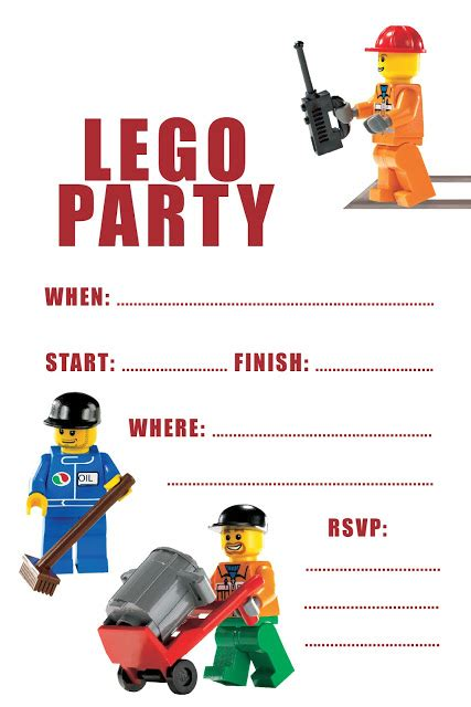 free lego templates free printable lego birthday invitations search results