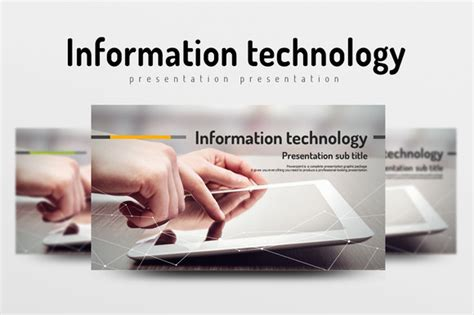 information technology templates information technology presentation templates on
