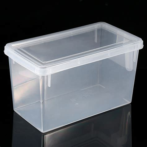 plastic storage containers for kitchen clear home kitchen refrigerator plastic food storage containers box with handle ebay