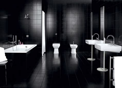 black tiled bathrooms designs cuarto de ba 241 o en color negro
