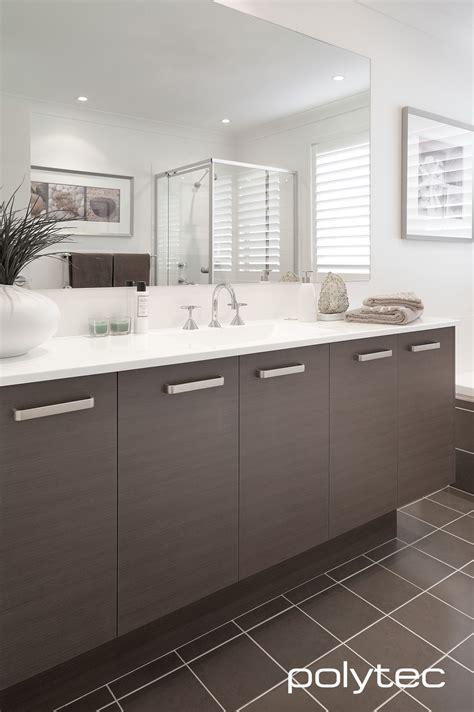 bathroom vanity in polytec melamine truffle lini matt