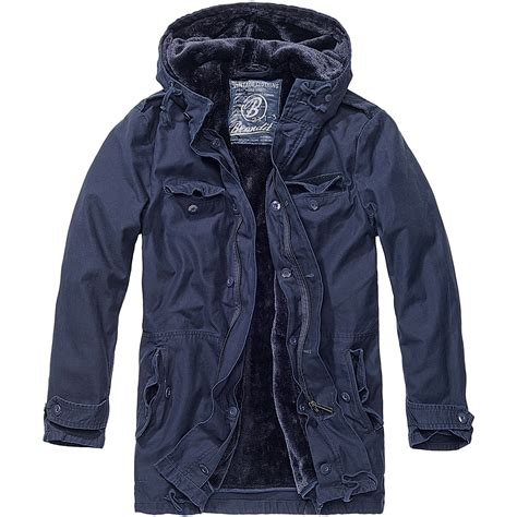 brandit bw mens marines field jacket warm travel cadet coat parka navy ebay
