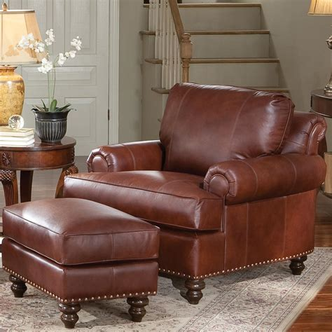 leather chair and ottoman leather lounge chair with ottoman living room modern