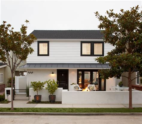 white stucco house white stucco house exterior transitional with tree modern outdoor flower pots