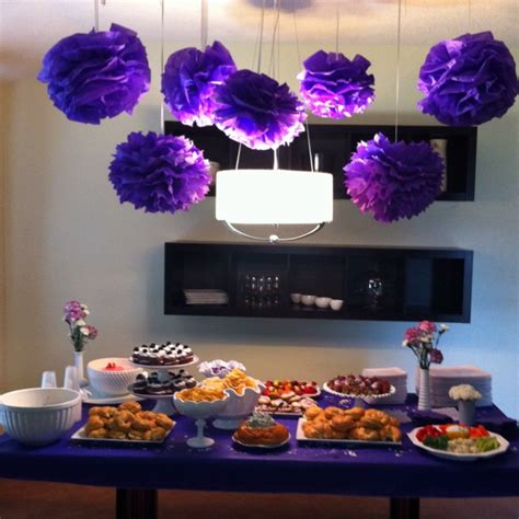 Purple Bridal Shower Decorations by Purple Bridal Shower Wedding Shower Ideas