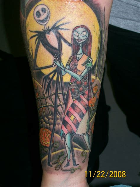 jack skellington and sally tattoos pics for gt skellington and sally