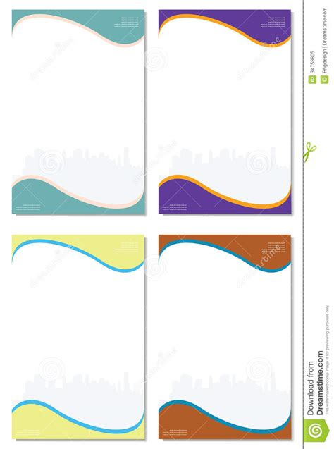 paper company stock vector image of folders template