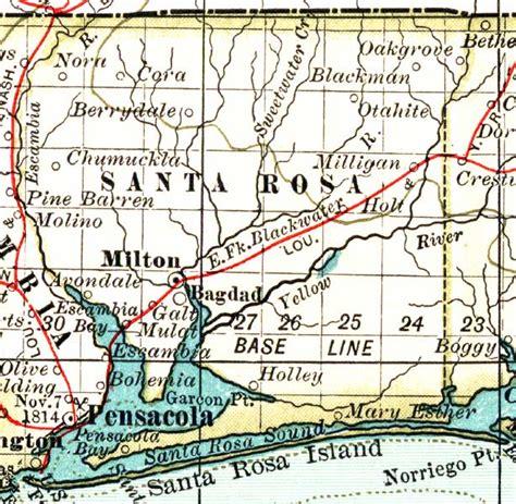 where is santa rosa florida on a map map of santa rosa county florida 1897