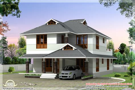 Beautiful House Designs | 1760 sq feet beautiful 4 bedroom house plan kerala house