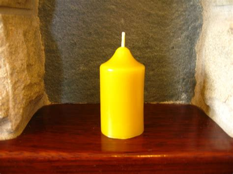 Handmade Beeswax Candles - handmade beeswax church candle 7 5cm x 4cm