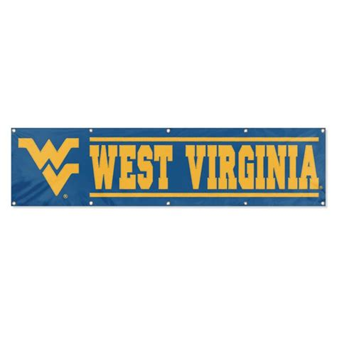 animal west virginia mountaineers ncaa applique embroidered banner 96x24