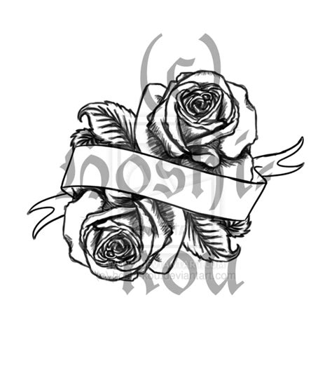 rose and banner tattoo designs banner and flowers tattoos design