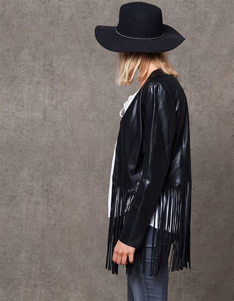 cazadoras de cuero mujer stradivarius cazadora cuero negro stradivarius temporada de la moda