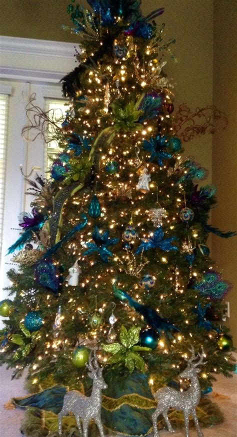 peacock christmas tree peacock christmas pinterest