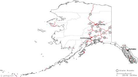 printable road map of alaska map of alaska
