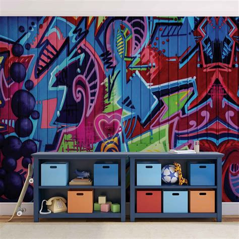 graffiti street art wall paper mural buy  europosters