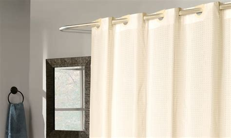 shower curtain no hooks needed fabric shower curtain groupon goods