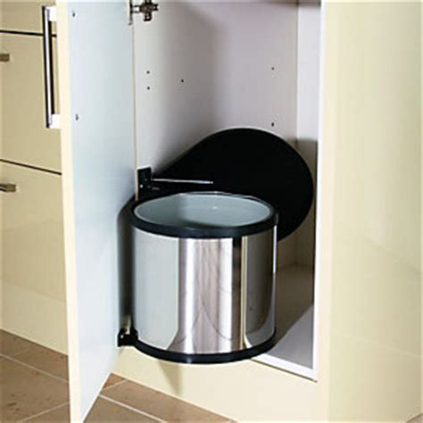 stainless steel swing out pantry wickes swing out pop up waste bin stainless steel