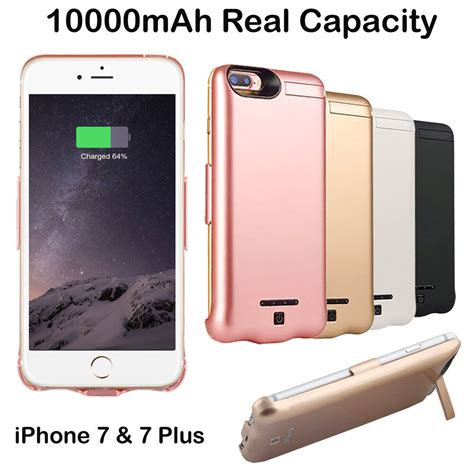 10000mah external power battery charger charging cover for iphone 7 7 plus ebay