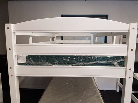 Single Bunk Bed With Trundle Cosmos White Single Bunk Beds With Trundle