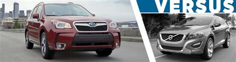 compare subaru forester models 2016 subaru forester vs volvo xc60 model comparison salt