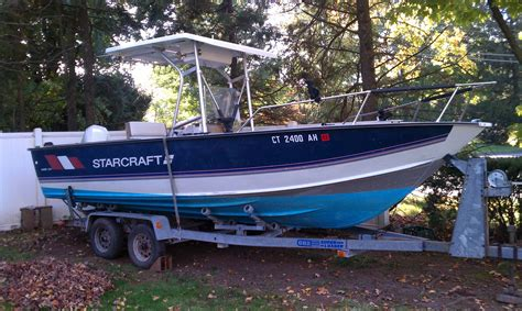 fishing boats for sale ct in ct gt 22ft starcraft cc w 150hp outboard trailer
