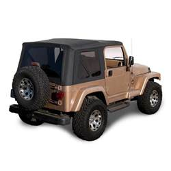 jeep wrangler tj soft top 97 02 in black denim w tinted