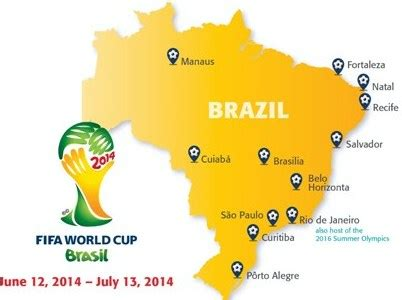 world cup host cities map the idiot s world cup 2014 primer vangabonds