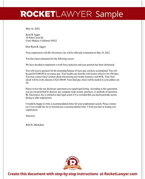 termination letter format integrity issue letter of termination gplusnick