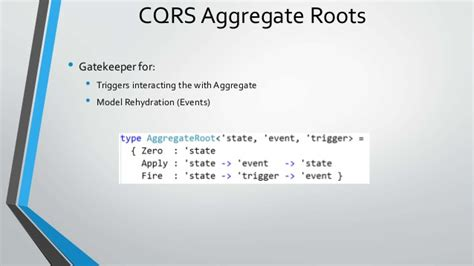 repository pattern aggregate root real world event sourcing and cqrs