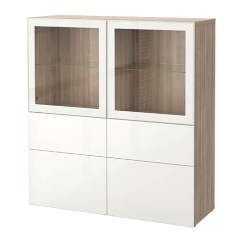 ikea besta vitrine best 197 storage combination w glass doors walnut effect