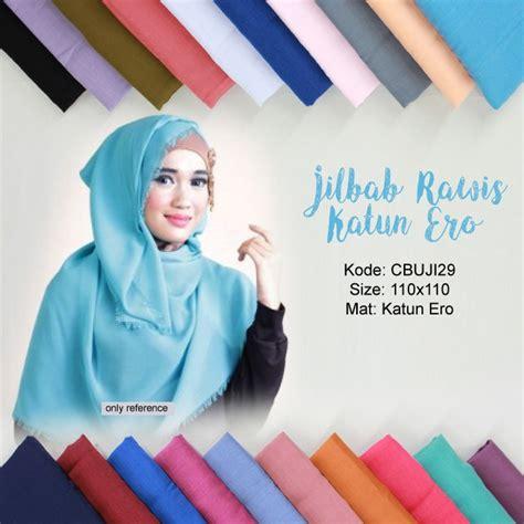 jilbab katun rawis segiempat polos obral batik murah