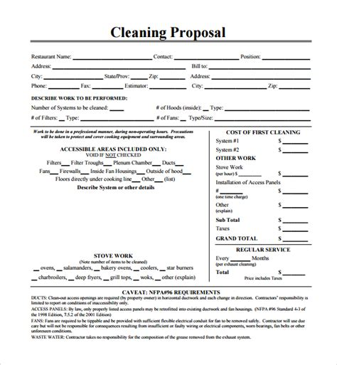 13 Cleaning Proposal Templates Pdf Word Apple Pages Adobe Indesign Sle Templates Cleaning Bid Template