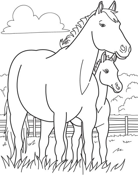 Coloring Pages Of Horses And Foals by Pictures Of Horses Coloring Pages At Getcolorings