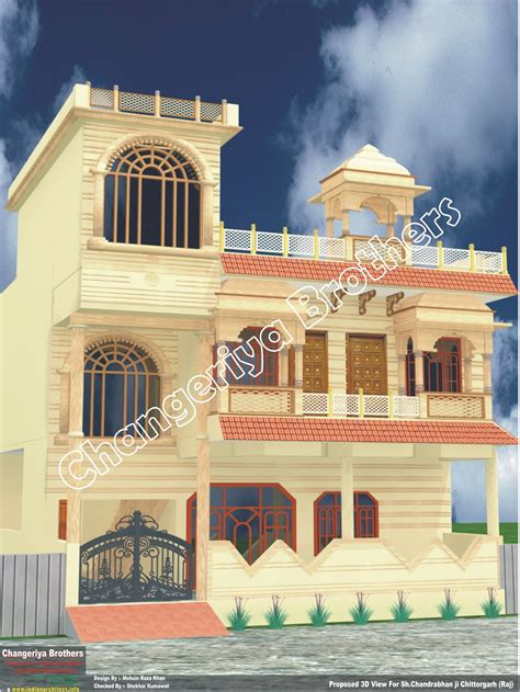 rajasthani home design plans rajasthani style dhopur design elevation indian architect