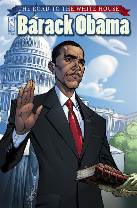 book of biography of barack obama barack obama comic book bio sequel coming from idw