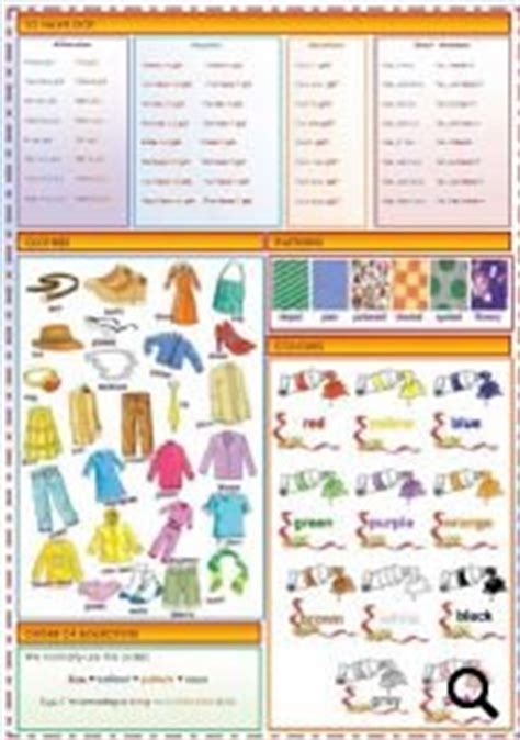 adjective patterns english exercises have got clothes patterns colors order of